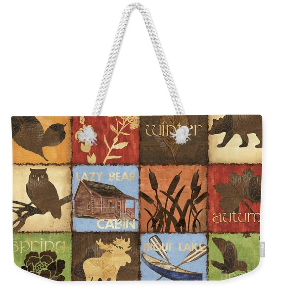 Seasons Lodge Weekender Tote Bag
