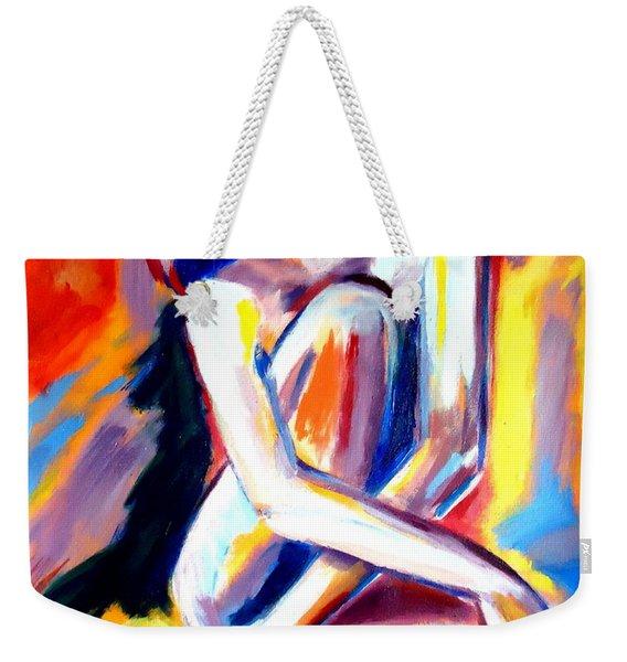 Seated Lady Weekender Tote Bag