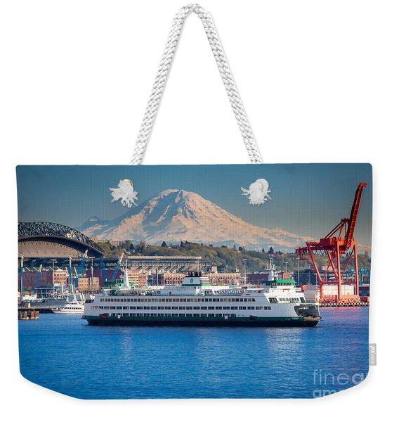 Seattle Harbor Weekender Tote Bag