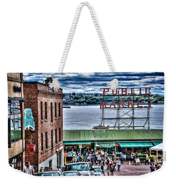 Seattle Public Market 2 Weekender Tote Bag