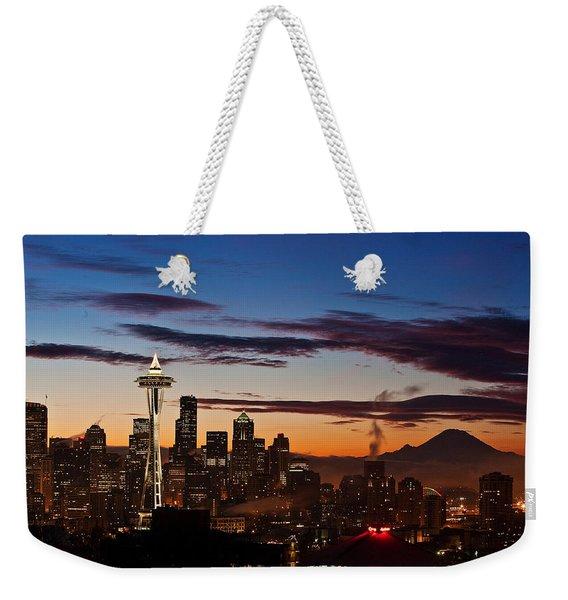 Seattle Sunrise Weekender Tote Bag