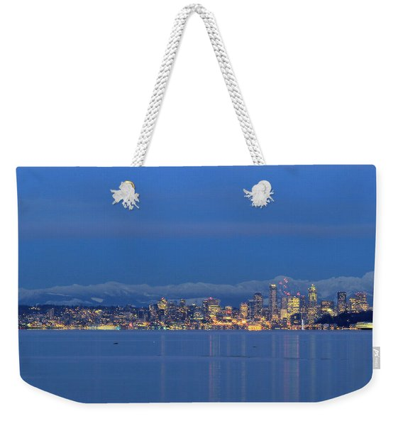 Seattle Surrounded By Blue Weekender Tote Bag
