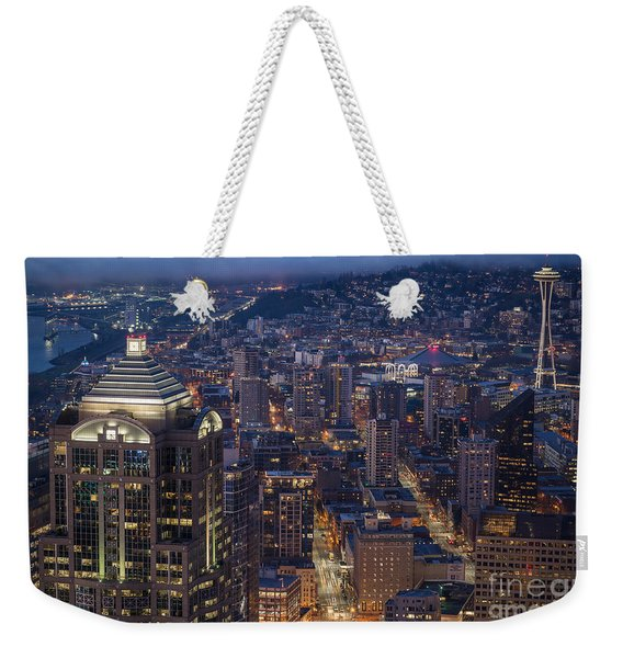 Seattle Urban Details Weekender Tote Bag