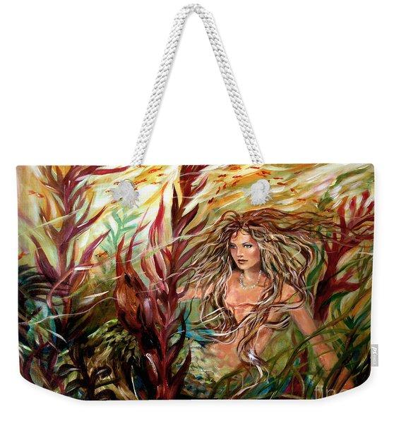 Seaweed Mermaid Weekender Tote Bag