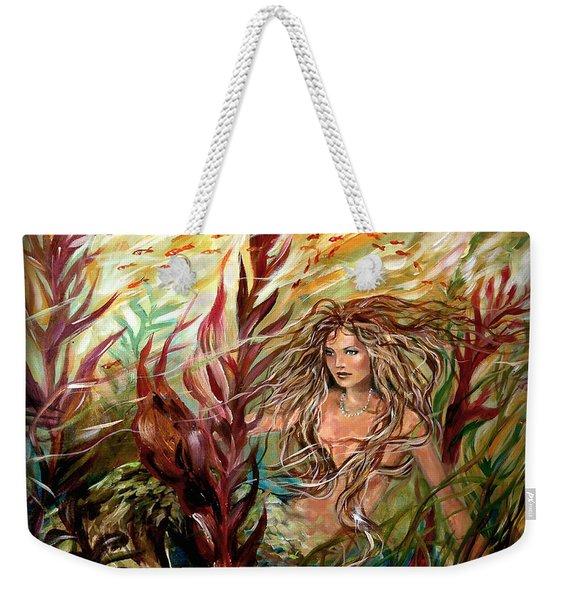Seaweed Mermaid Pillow Weekender Tote Bag