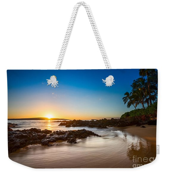 Secret Beach Sunset Weekender Tote Bag
