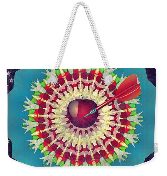 Weekender Tote Bag featuring the digital art Seduction  by Eleni Mac Synodinos
