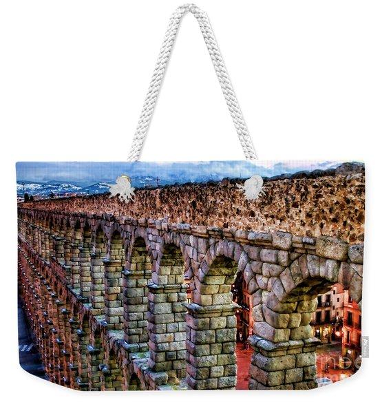 Segovia Aqueduct Spain By Diana Sainz Weekender Tote Bag