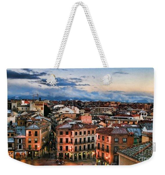 Segovia Nights In Spain By Diana Sainz Weekender Tote Bag