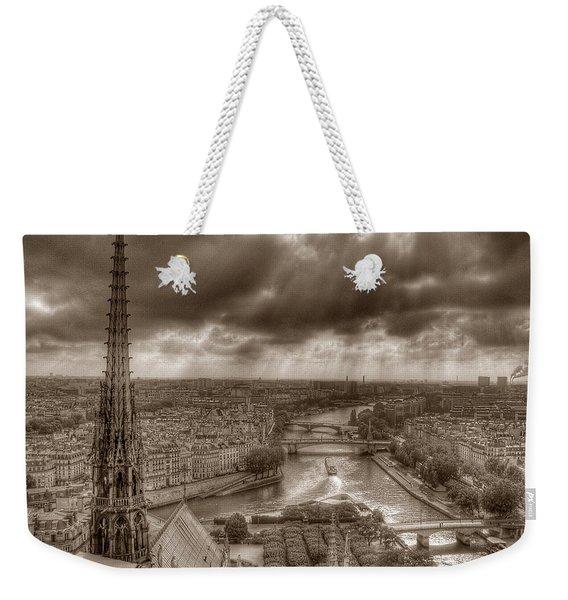 Seine From Notre Dame Weekender Tote Bag