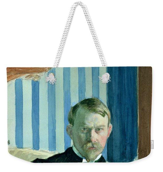 Self Portrait, 1910 Oil On Canvas Weekender Tote Bag