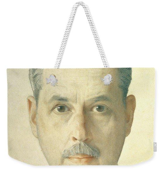 Self Portrait, 1921 Pencil On Paper Weekender Tote Bag