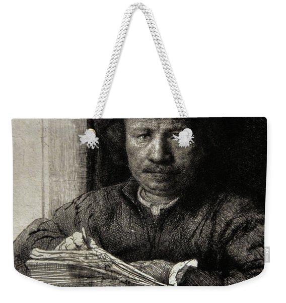 Self-portrait Etching At A Window Weekender Tote Bag