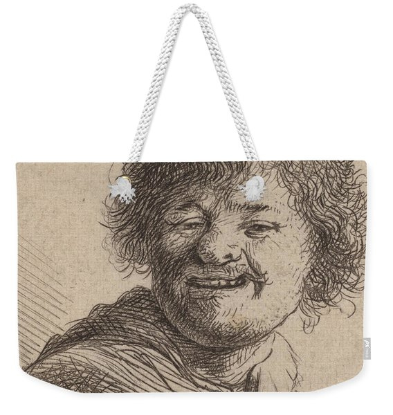 Self Portrait In A Cap Laughing Weekender Tote Bag