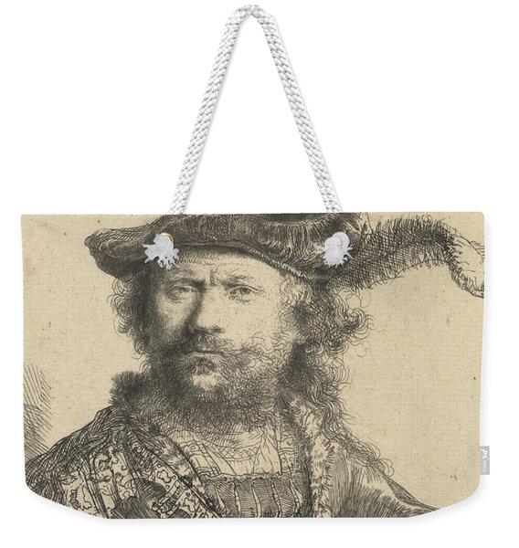 Self Portrait In A Velvet Cap With Plume Weekender Tote Bag