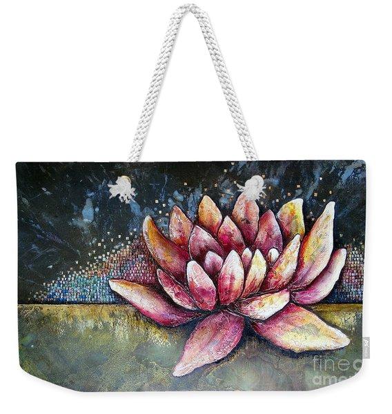 Self Portrait With Lotus Weekender Tote Bag