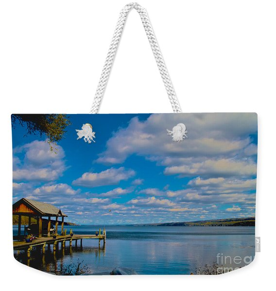 Seneca Lake At Glenora Point Weekender Tote Bag