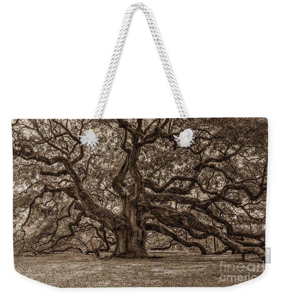 Sepia Angel Oak Weekender Tote Bag