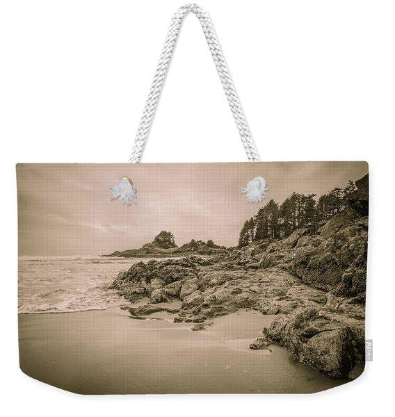 Cox Bay Sepia Weekender Tote Bag