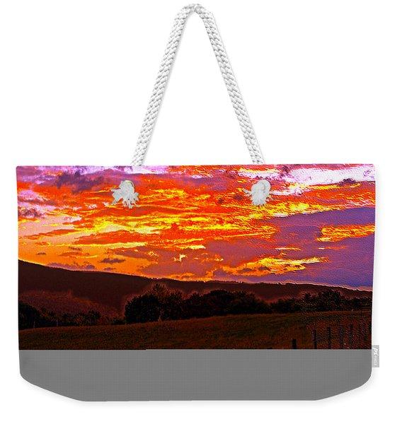 September Smokies Sunrise Weekender Tote Bag