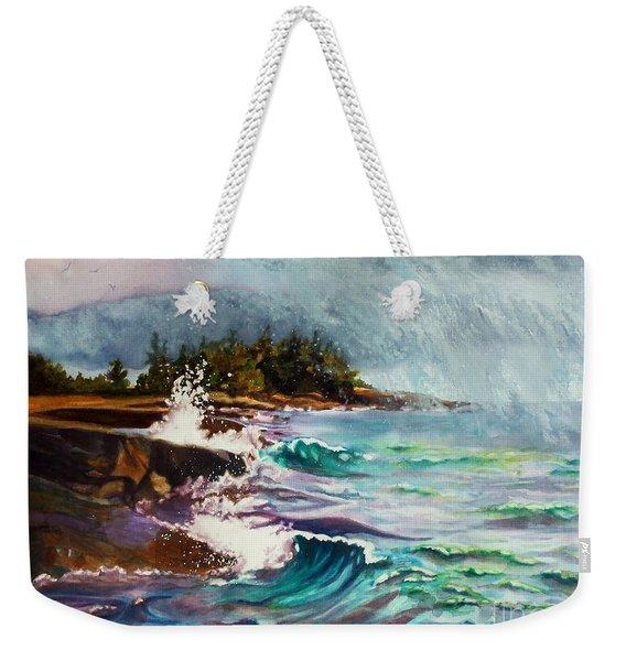 September Storm Lake Superior Weekender Tote Bag