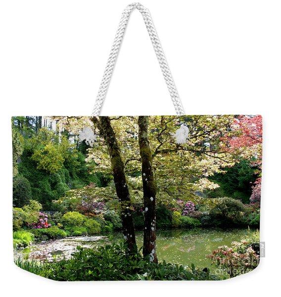 Serene Garden Retreat Weekender Tote Bag