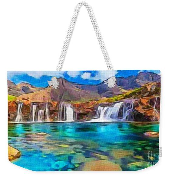 Serene Green Waters Weekender Tote Bag