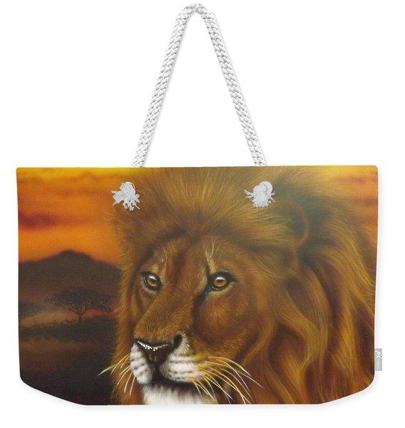 Serengeti King Weekender Tote Bag