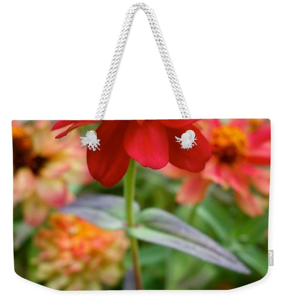 Serenity In Red Weekender Tote Bag