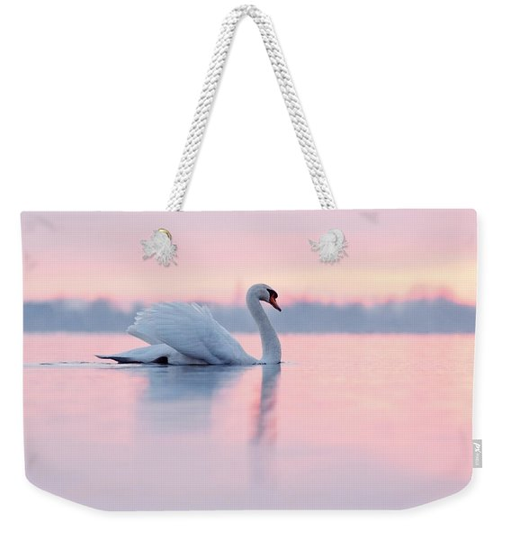 Serenity   Mute Swan At Sunset Weekender Tote Bag