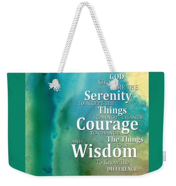 Serenity Prayer 2 - By Sharon Cummings Weekender Tote Bag