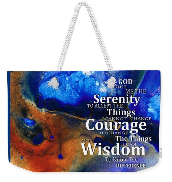 Serenity Prayer 4 - By Sharon Cummings Weekender Tote Bag
