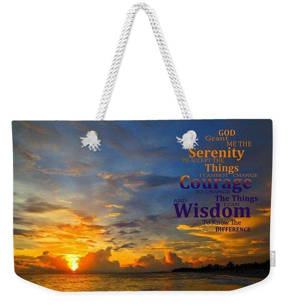 Serenity Prayer Sunset By Sharon Cummings Weekender Tote Bag