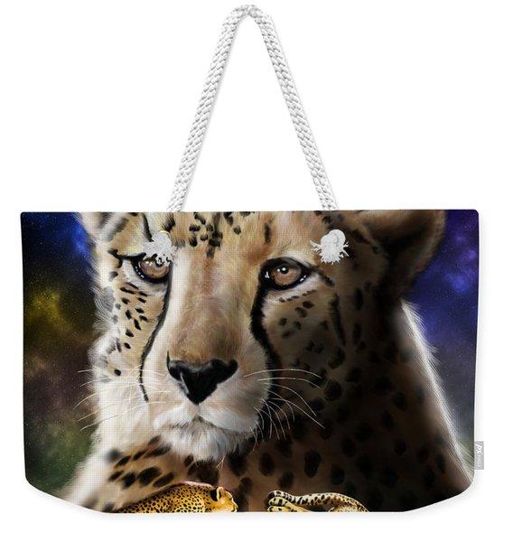 First In The Big Cat Series - Cheetah Weekender Tote Bag