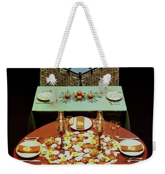 Set Tables Weekender Tote Bag