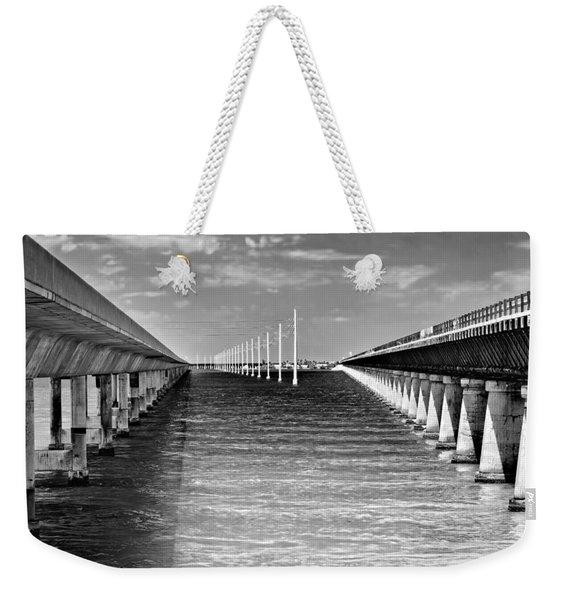seven mile bridge BW Weekender Tote Bag