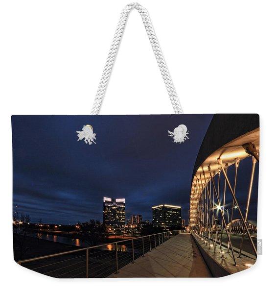 Seventh Avenue Bridge Fort Worth Weekender Tote Bag