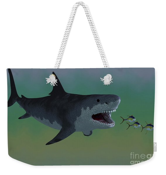 Several Tuna Fish Try To Escape Weekender Tote Bag