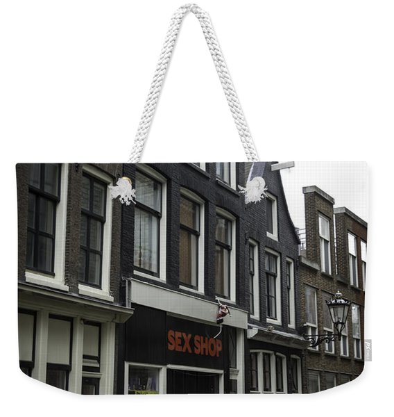 Sex Shop Amsterdam Weekender Tote Bag