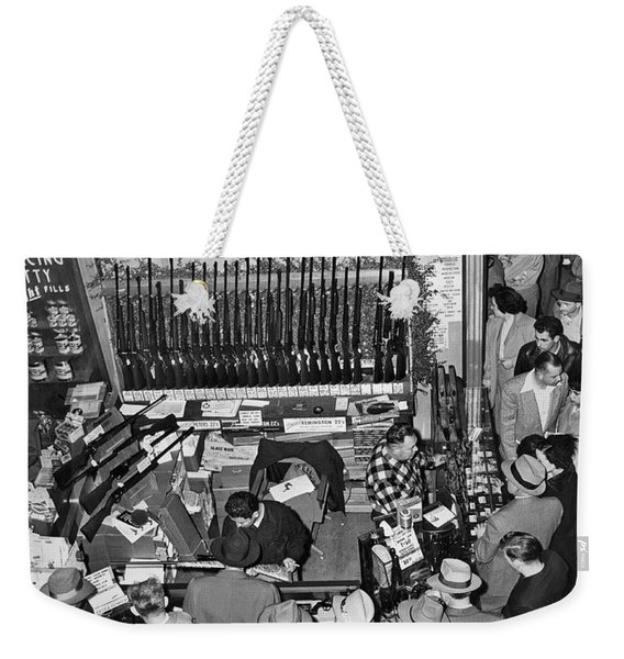 Sf Gun Show Booth Weekender Tote Bag