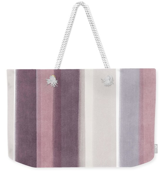 Shades Of Purple- Contemporary Abstract Painting Weekender Tote Bag