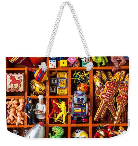 Shadow Box Full Of Toys Weekender Tote Bag