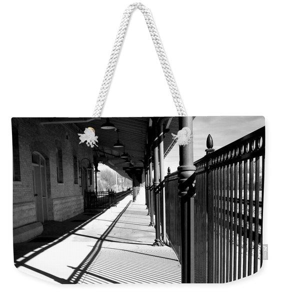 Shadows At The Station Weekender Tote Bag