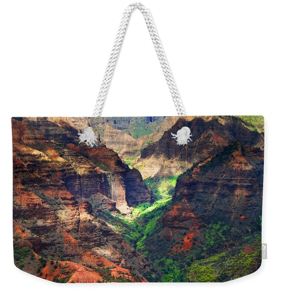 Shadows Of Waimea Canyon Weekender Tote Bag