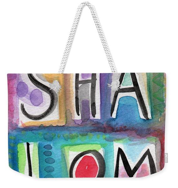 Shalom - Square Weekender Tote Bag