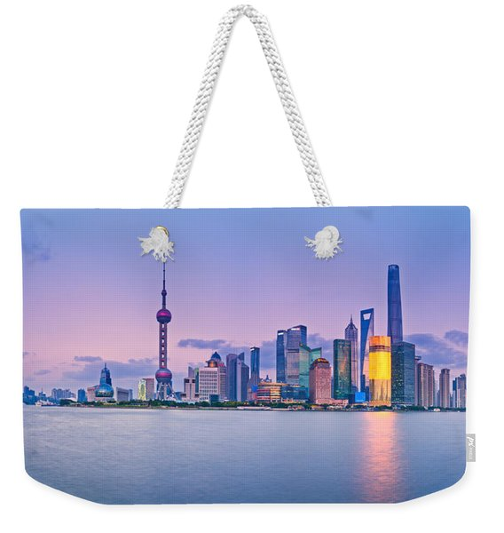Shanghai Pudong Skyline  Weekender Tote Bag
