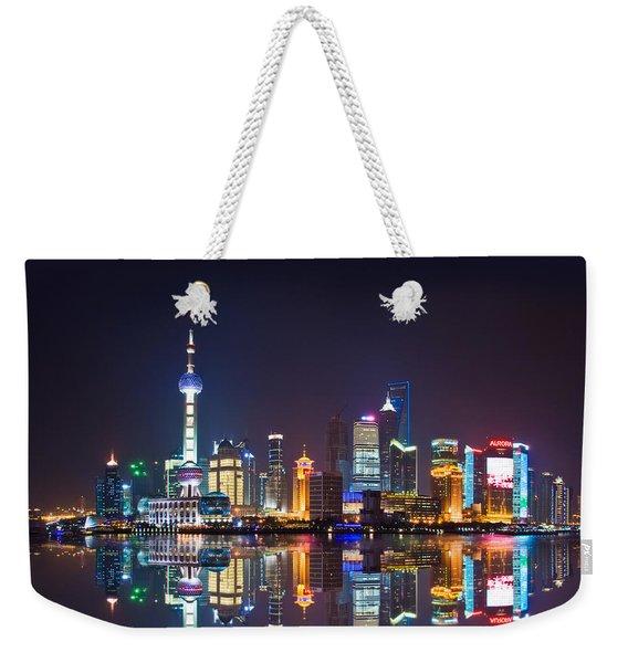 Shanghai Reflections Weekender Tote Bag