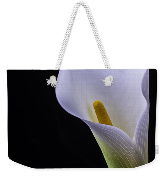 Shapely Calla Lily Weekender Tote Bag
