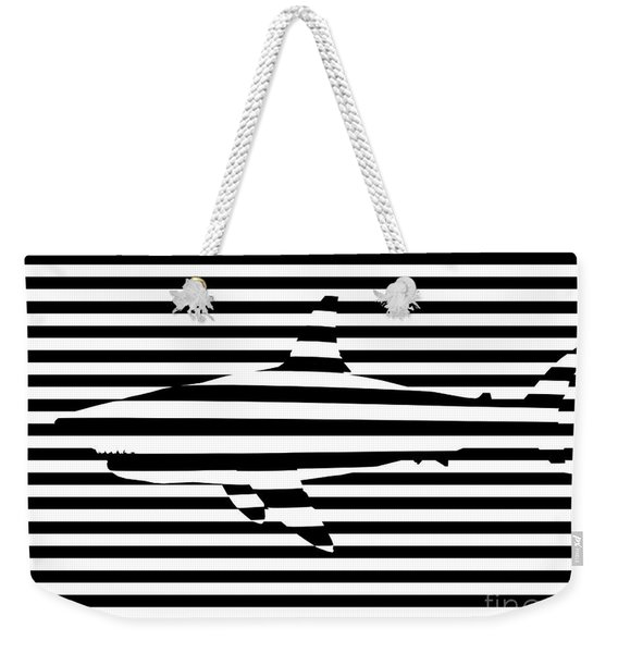 Shark Optical Illusion Weekender Tote Bag