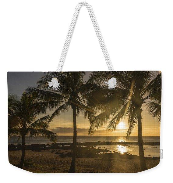 Sharks Cove Sunset 2 - Oahu Hawaii Weekender Tote Bag